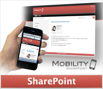 Mobility Red (Single License) SharePoint Masterpage and Theme
